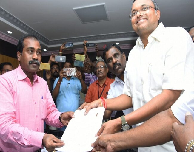 Karti P Chidambaram Nomination for MP election