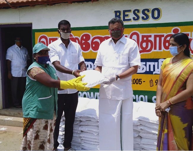 At Sivaganga 29.04.2020 Distributed Essential Products