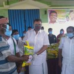 On behalf of PaambanTown congress committee, Mr. Karti Chidambaram distributed essential items to the sanitation workers, fishermen and the general public of Paamban Town on 13.5.2020