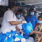 On behalf of the Paramakudi Town congress committee, Mr. Karti Chidambaram distributed essential items to the sanitation workers, leprosy patients, and the general public of Paramakudi Town on 13.5.2020.