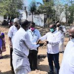 From the Sivaganga MP, Mr Karti Chidambaram's Constituency Development Fund, Semputhi village in Pon Amaravathi block of Pudukottai District is getting a bus terminus and Karukapulampatti village of Tenoor Panchayat is getting a ration shop.  On 05.06.2020 bhoomi poojai was done for both the places.