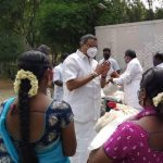 Mr Karti Chidambaram, Sivaganga MP,  distributed essential relief items to the transgender community persons in Karaikudi town.