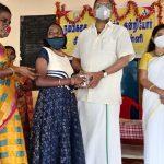 Mr Karti P Chidambaram, MP, Sivaganga, while visiting NAMBIKKAI, the Skills Training School for Mentally Retarded Children in Sivaganga on 08.01