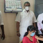 Mr Karti P Chidambaram, MP, Sivaganga, along with Karaikudi MLA, Mr Mangudi, visited the UPHC in Kadiyapatti village in Arimalam on 28.05.2021 and discussed with the doctors at the centre regarding the Covid treatment related activities and the vaccination drive being conducted at the centre and also distributed medical equipments and accessories to that centre.