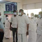 Mr Karti P Chidambaram, MP, Sivaganga, along with Karaikudi MLA, Mr Mangudi, visited the Government Hospital in Thirumayam on 28.05 (1)