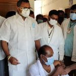 Mr Karti P Chidambaram, MP, Sivaganga, along with Karaikudi MLA, Mr Mangudi, visited the UPHC in Konapattu village in Thirumayam on 28.05.2021 and discussed with  the doctors at the centre regarding the Covid treatment related activities and the vaccination drive being conducted at the centre.