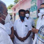 Mr Karti P Chidambaram, MP, Sivaganga, along with Karaikudi MLA, Mr Mangudi, visited the UPHC in Thiruvegambathur village in Devakottai on 27.05.2021