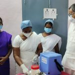 Mr Karti P Chidambaram, MP, Sivaganga, along with Karaikudi MLA, Mr Mangudi, visited the UPHC in Thiruvegambathur village in Devakottai on 27.05.2021 and discussed with the doctors at the centre regarding the Covid treatment related activities and the vaccination drive being conducted at the centre.