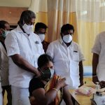 Mr Karti P Chidambaram, MP, Sivaganga, along with Karaikudi MLA, Mr Mangudi, visited the UPHC in Velayudhapattinam village in Devakottai on 27.05.2021 and discussed with the doctors at the centre regarding the Covid treatment related activities and the vaccination drive being conducted at the centre.