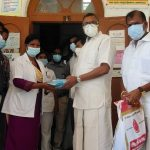 Mr Karti P Chidambaram, MP, Sivaganga, along with Karaikudi MLA, Mr Mangudi, visited the UPHC in Panayapatti village in Thirumayam on 28.05.2021 and discussed with the doctors at the centre regarding the Covid treatment related activities and the vaccination drive being conducted at the centre and also distributed medical equipments and accessories to that centre.