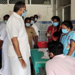 Mr Karti P Chidambaram, MP, Sivaganga, along with MLA of Karaikudi, Mr Mangudi, inaugurated the COVID vaccination camp organised at PHC, Puduvayal Municipality on 29.05.2021