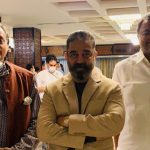 Mr Karti P Chidambaram, Sivaganga MP, with Parliament's Information Technology Committee's President, Shri Shashi Tharoor MP, and Mr Kamalhassan who came to record his views on Cinematography Law Amendment Bill in front of the committee members on 27.07.2021 in Delhi